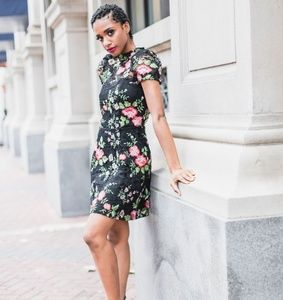 Encased in Lace | Fit & Flare Floral Lace Dress
